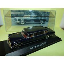 MERCEDES 600 PULLMAN 1963 Bleu ALTAYA 1:43 vitrine avec félure