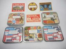 5 Tins Cavallini Self Adhesive Labels - Paris, Bon Voyage, Americana & Vintage
