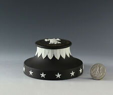 """Rare Wedgwood Collectors Society Jasper Solid Black """"Liberty Bell� Paperweigh"""