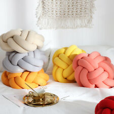 Handmade Knot Cushion Soft Knotted Square Pillow Throw Baby Toys Home Decoration