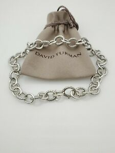 """David Yurman Large 12mm Oval Link Necklace 16"""" in length"""