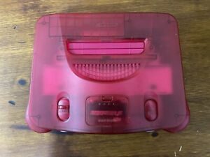 Watermelon Red Funtastic N64 Console Only  Nintendo 64 System Jumper Pak  TESTED