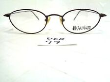 New NIKON Eyeglasses Duratitan DT4800 0252 Eggplant Oval Titanium Japan (DER-97)