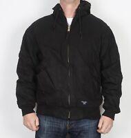 """WALLS Workwear Hooded Bomber Jacket Coat Black Large 42"""" 44"""" (JDE)"""