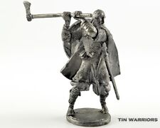 Viking with axe, 9-10 cen Tin toy soldier 54mm miniature statue. metal sculpture