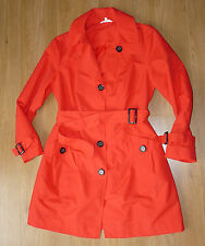 Women's MARKS & SPENCER Trench Red/Carrot Color Size 14 - BNWOT