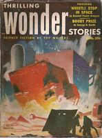 THRILLING WONDER STORIES August 1953 Virgil Finlay art
