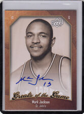 "2009-10 UD GREATS OF THE GAME MARK JACKSON ""G.S.WARRIORS COACH"" AUTOGRAPH/AUTO*"