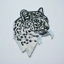 1Pc Embroidery Snow Leopard Sew On / Iron On Patch Badge Bag Hat Jeans Applique