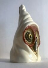 1891 Royal Worcester Hooded Owl Candle Snuffer Extinguisher