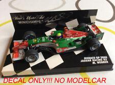 decal Oceans 12 Jaguar R5 minichamps 1/43 Webber Klien Monaco GP 2004 F1