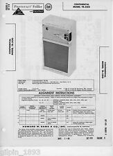 Continental Model TR-200 AM Transistor Radio PhotoFact Technical Manual