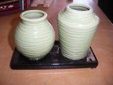 Two Green Vases Decoration