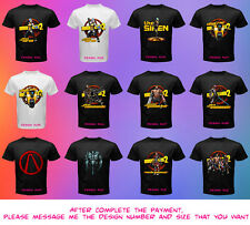 Borderlands 2 Video Game PS3 Xbox 360 PC Black Shirt Tshirt Men Clap Trap Siren