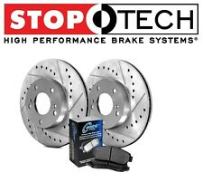 Toyota Lexus Stoptech Drilled & Slotted Front Premium Rotors Pads Kit 928.44007