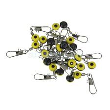 20pcs Fishing Rolling Swivels Connector Snaps Tackle Sea Rig Link Yellow