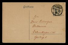 DR WHO 1921 GERMANY DANZIG POSTAL CARD STATIONERY C186188