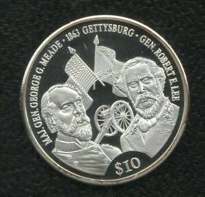LIBERIA 10 DOLLARES 2000 SILVER