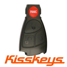 Replacement 4 Buttons Key Remote Entry Fob Case Shell for Mercedes Benz IYZ 3312