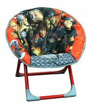 Children How To Train Your Dragon Moon Chair Padded Folding Seat For Kids New