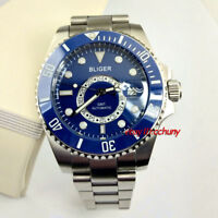 43mm Bliger Steel Case Luminous marks Ceramic Bezel GMT automatic watch 2420