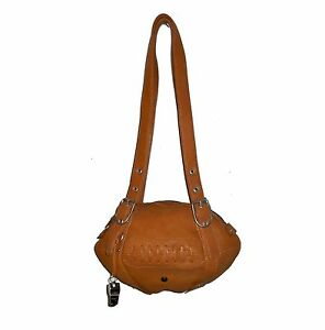 NEW Red24 Tan/Brown Leather FOOTBALL PURSE Shoulder Bag NFL Cleveland Browns