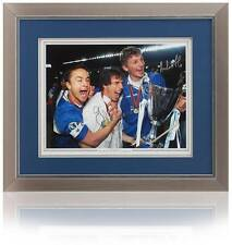 Gianfranco Zola & Tore Andre Flo Hand Signed 16x12 Chelsea AFTAL photo proof COA