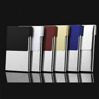 Stainless Steel Pocket Business Name Credit ID Card Holder Box Metal Box Case UK