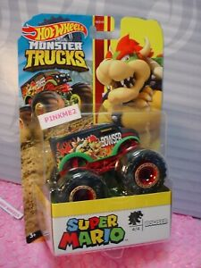2020 Monster Trucks SUPER MARIO 4/4 BOWSER ☆ black/red dairy delivery☆Hot Wheels