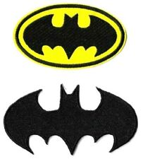 Batman Black + Yellow Logo Patch Lot of 2 Symbol Badge Emblem DC Comics Patches