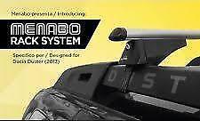 Barre Portatutto Menabo' Rack System Dacia Duster dal 2013  alluminio antifurto