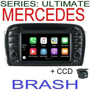 MERCEDES SL CLASS R230 2002-04 GPS NAV DVD APPLE CAR PLAY ANDROID HEAD UNIT +CAM