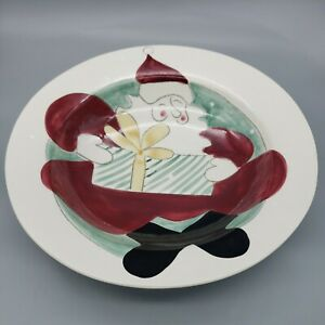 """Woof and Poof Americaware Bowls Home Decorative 14"""" Bowl Santa Christmas 2000"""