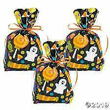 24 HALLOWEEN Party Favors CELLO Goody Loot treat bags goody for candy