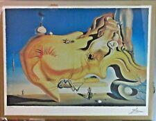 Vintage Framed Salvador Dali Signed Lithograph, The Great Masturbator No. 38/500