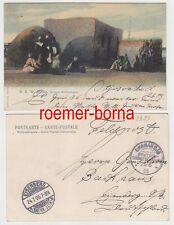 74193 Ak Deutsch-Südwestafrika Herero-Wohnungen mit Stempel Okahandia 1905