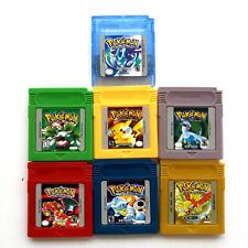 Pokemon Spiele GBC Silber Kristall Gold Gelb Grün Blau Rot Gameboy Color GBA
