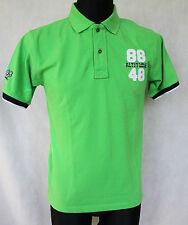 MEN'S 8848 ALTITUDE POLO SHIRT TOP BRIGHT GREEN sz S 100% COTTON