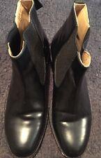 Men's Samuel Winsor Handmade Black Leather Chelsea Boots USED UK 10 VGC