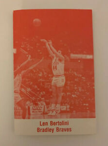 1987 1988 Bradley Braves Schedule NCAA College Men Basketball Len Bertolini