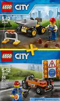 LEGO City / Traffic #30348, #30357 - Mini Dumper + Road Worker - 100% NEW / NEUF