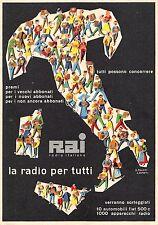 709) RAI RADIO ITALIANA, PREMI PER I VECCHI E NUOVI ABBONATI, RADIO PER TUTTI.
