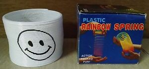 Slinky Magic Spring Toy White Smiley Face Giveaway Children's Science Toy