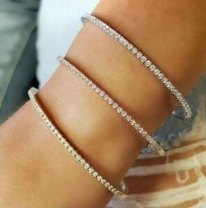 1.50 carat F / SI Round Diamond Bangel/ Bracelet UK Hallmarked White Gold