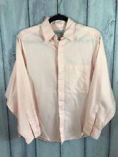 Calvin Klein Mens Size 6 Dress Shirt Long Sleeve Hidden Button Up Pink