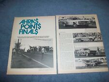 1970 AHRA Phoenix, Arizona Drag Race Highlights Vintage Article Beeline Dragway