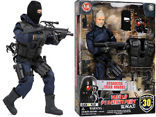 Click N/' Play Police Unit SWAT Assaulter 30cm Action Figure Play Set with
