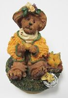 """New in Box MINT Boyds Small Candle Topper  with Base /""""Petals.../""""#651263-1-2"""