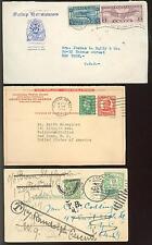 USA 1920-1952 SELTENE LÄNDERMISCHFRANKATUREN  etc (E7298b