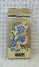 iPhone 4 4s SNAP ON CASE Blue Chicory Flowers Butterfly LANG Artist Tim Coffey